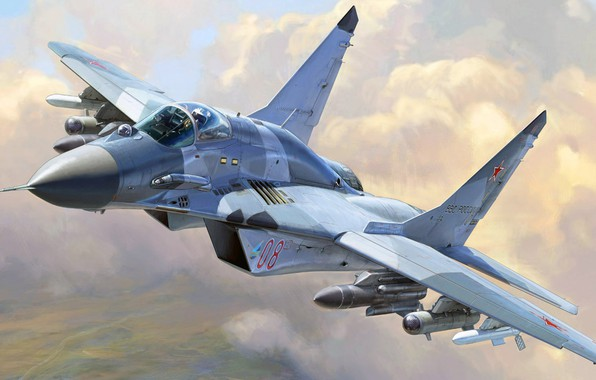 Photo Wallpaper The Fourth Generation Russian Air Force Fulcrum OKB MiG