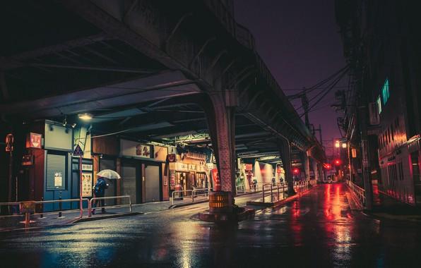 Picture Road, Night, The city, Neon, People, Tokyo, Lights, Tokyo, Masashi Wakasa