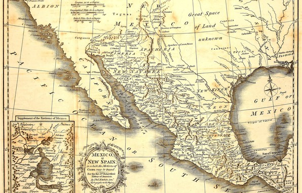 Picture Mexico, old, map, paper