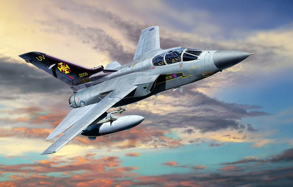 Picture Panavia, Interceptor, Tornado, with variable sweep wing, ADV, Air Defence Variant, combat jet, F.3