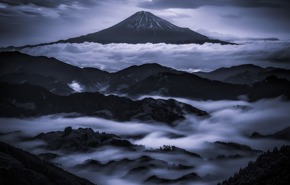 Picture clouds, mountains, mountain, Japan