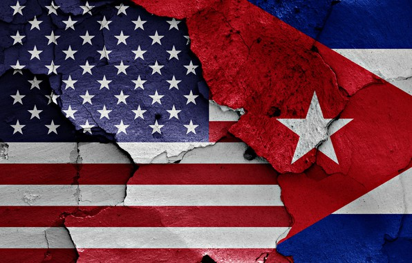 Photo Wallpaper Wall USA Flag Cuba