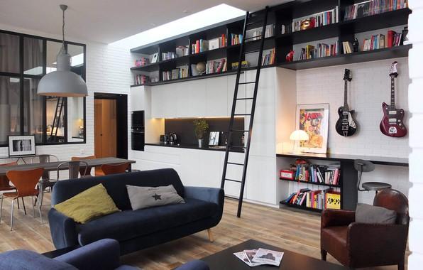 Picture interior, living room, Rock the Loft