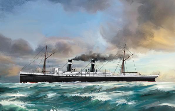 Picture wave, ship, Transatlantic Ships, st-louis