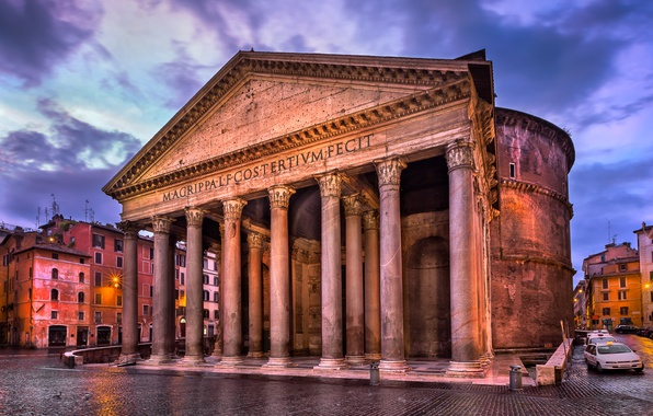Picture the building, Rome, Italy, columns