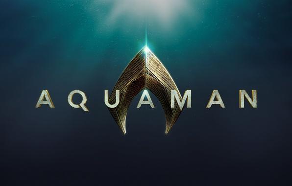 Picture cinema, logo, sea, ocean, movie, hero, film, Aquaman, yuusha, official wallpaper