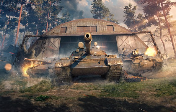 Picture Hangar, WoT, World of Tanks, World Of Tanks, THE T-62A, Wargaming Net, Leopard 1, M48A5 …
