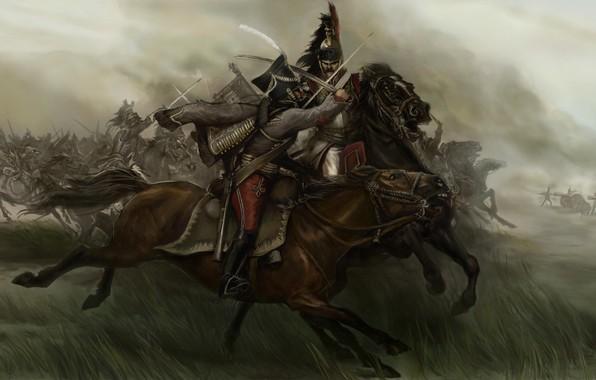 Picture art, watercolor, pencil, painting, Mount & Blade, gouache, wallpaper., Battle Of Borodino, canvas oil, Patriotic …