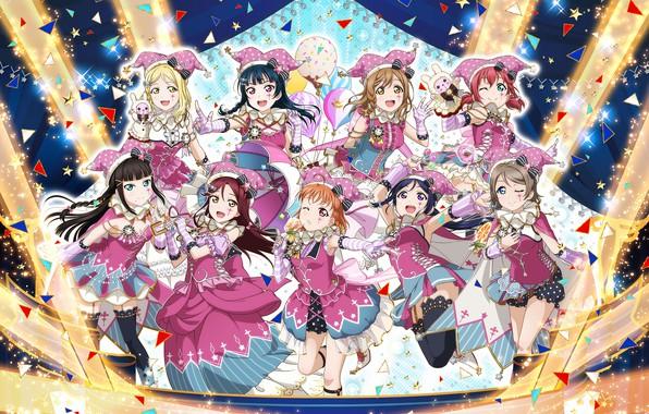 Wallpaper Girls, Scene, Art, Love Live! School Idol