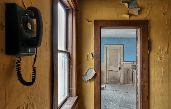 Picture the door, window, phone