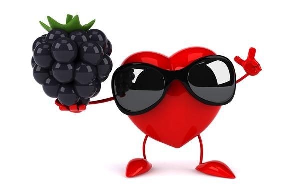 Picture heart, heart, BlackBerry, funny, rendering