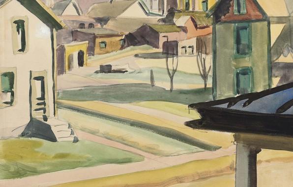 Picture Houses, 1917, Charles Ephraim Burchfield