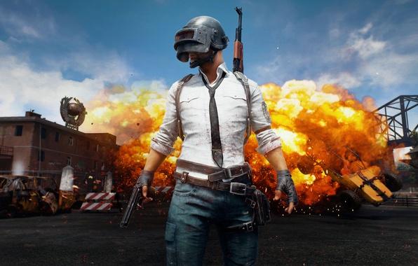 Picture fire, flame, gun, pistol, game, weapon, man, AK-47, gloves, tie, spark, AK 47, AK47, AK, …