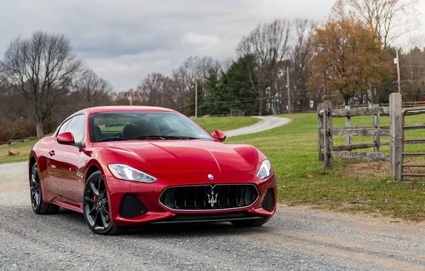Picture Maserati, Red, GranTurismo, Sport