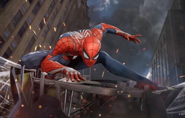 Picture spider, game, boy, fight, mask, Spider-Man, uniform, seifuku, SpiderMan, Spider-Man Homecoming, E3 2017, Spider Man …