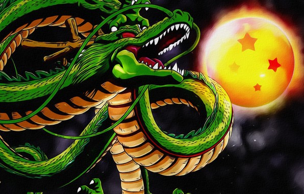 Picture background, fiction, the moon, dragon, figure, art, snakes, painting, picture