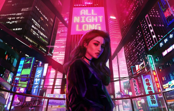 Picture Girl, Lights, Night, The city, Neon, Light, Advertising, Synthpop, Darkwave, Synth, Retrowave, Synthwave, Synth pop, …