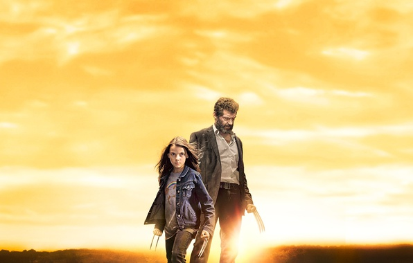 Picture cinema, girl, Wolverine, Hugh Jackman, X-Men, Logan, man, Marvel, hero, film, kid, Laura, powerful, strong, …