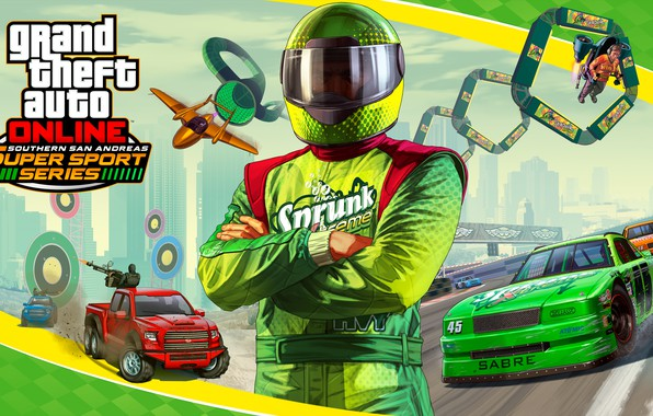 Picture machine, the plane, costume, helmet, racer, Grand Theft Auto V, gta 5, gta online, San …