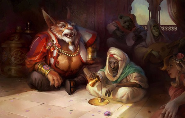 Picture the game, fantasy, Dota2, tavern, Brewmaster