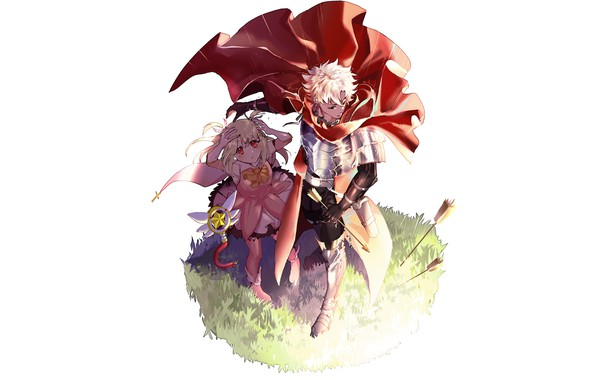 Picture anime, art, girl, guy, arrows, characters, defender, Fate Grand Order