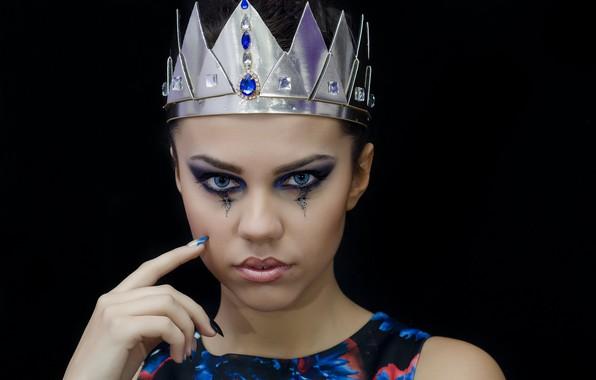 Photo wallpaper girl, model, crown, makeup, make up, Anna Maria