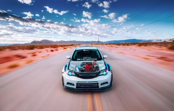 Picture Subaru, Impreza, Godzilla, pearl white, Billetworkz