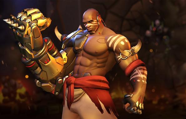 Picture the game, art, renaud galand, the fist of death, DOOMFIST, fighter., Akande Ogundimu, Thunderbolt