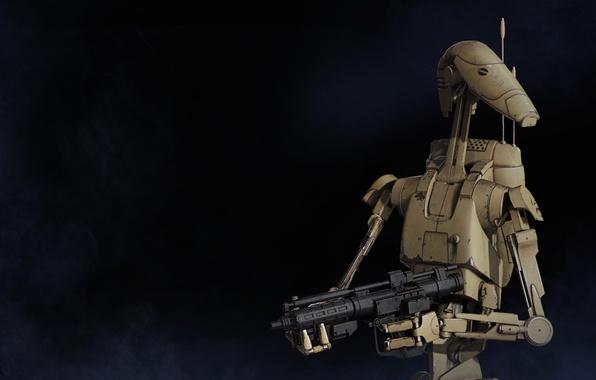 Picture Star Wars, gun, game, mecha, weapon, Star Wars Battlefront, technology, Star Wars Battlefront II, B1, …
