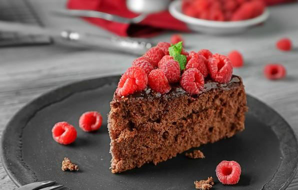 Picture raspberry, cake, cream, dessert, chocolate, biscuit