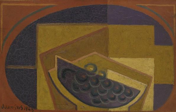 Picture cubism, 1923, Juan Gris, Black grapes