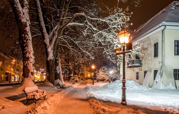 Picture Winter, Snow, Lights, Zagreb, Samobor, Croatia At Home