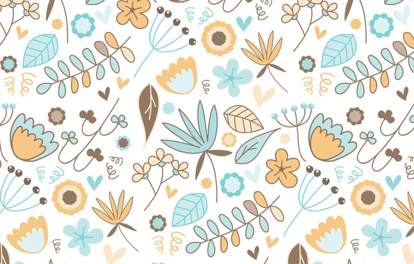 Photo wallpaper background, texture, pattern, vector, flowers