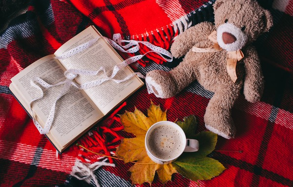 Picture Tape, Book, Coffee, Toy, Bear