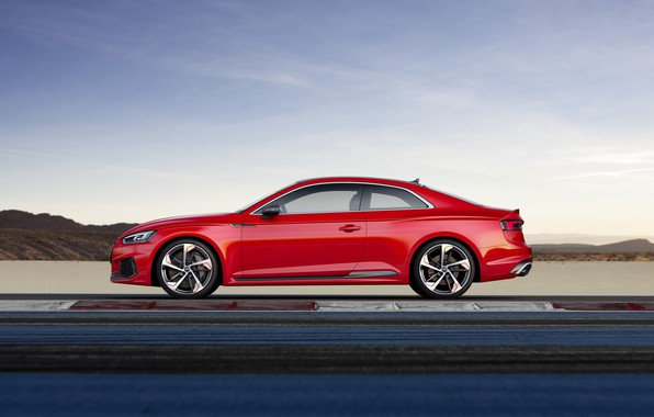 Picture Audi, German, Red, RS5, 2018, Track, RS, A5