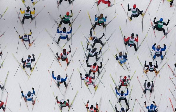 Picture Switzerland, race, skiing, marathon, Engadine