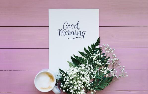 Picture flowers, coffee, spring, Breakfast, morning, Cup, flowers, cup, romantic, coffee, good morning, good
