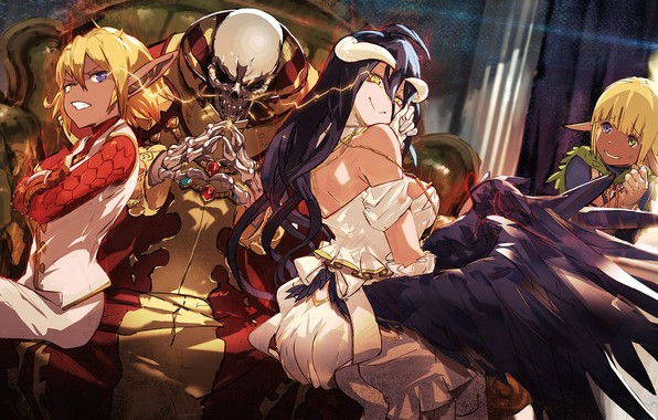 Photo wallpaper anime, Overlord, art, The Lord, girl, skeleton