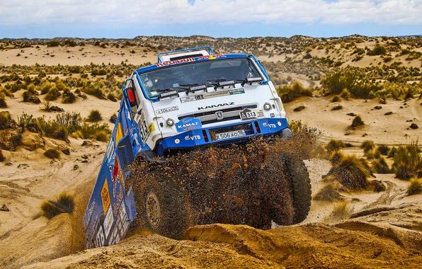 Picture Sand, Desert, Race, Master, Kamaz, Dakar, Dakar, Rally, KAMAZ, The front, Master