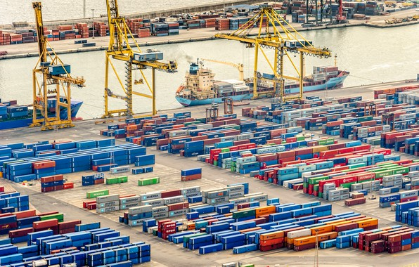 Picture Port, The ship, A container ship, Cranes, Terminal, Container, Maersk, Maersk Line, Container, Zaton