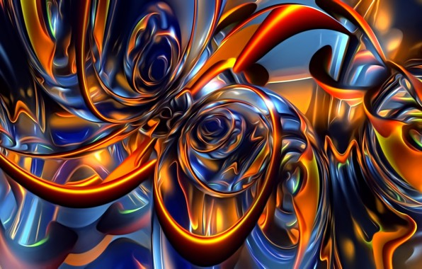 Picture light, abstraction, background, fantasy, Wallpaper, pattern, figure, picture, flickering, glowing lines
