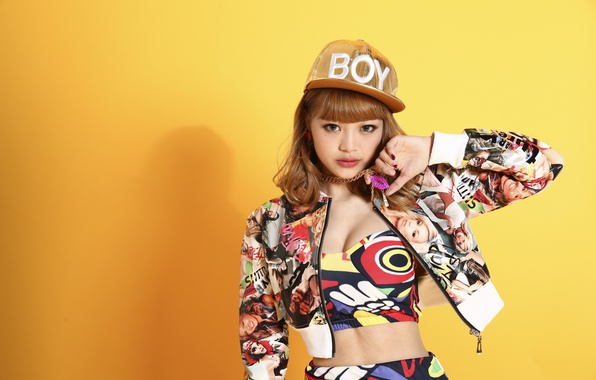 Picture look, girl, style, background, cap, East