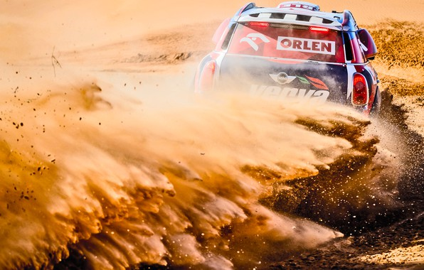 Picture Sand, Mini, Dust, Sport, Desert, Speed, Turn, Race, Skid, Heat, Rally, Rally, Dune, Raid, MINI …