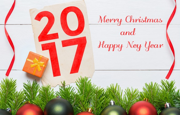 Picture new year, happy, merry christmas, 2017