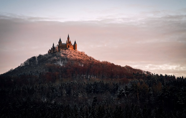 Picture landscape, Germany, Castle Hohenzollern