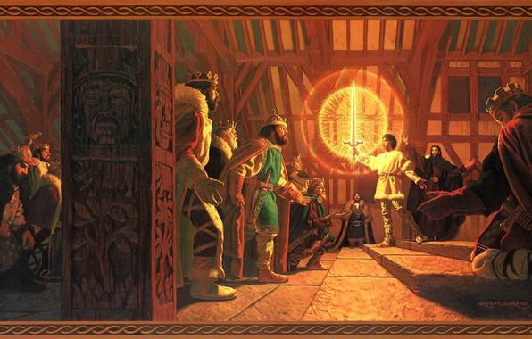 Picture lights, sword, fantasy, crown, caliburn, greg hildebrand