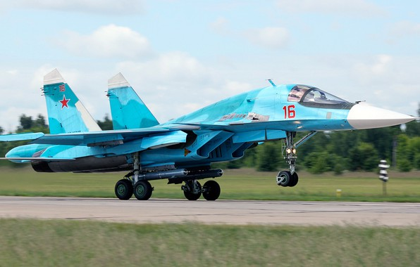 Picture Duck, fighter-bomber, Su-34, Sukhoi, Videoconferencing Russia, Russian multifunctional