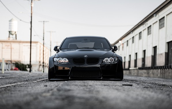 Picture BMW, Front, Black, E92, Face, Sight