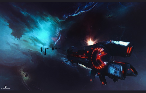 Picture space, game, ship, fan art, sci fi, game art, star conflict