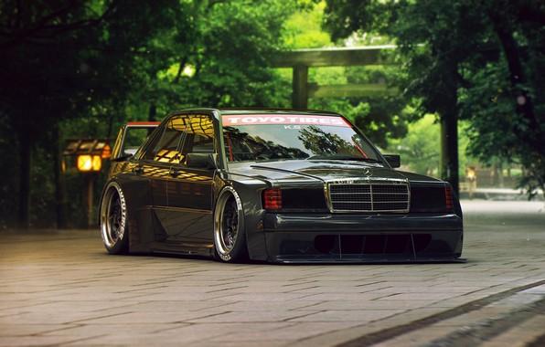 Photo wallpaper Mercedes-Benz, Tuning, Future, 190E, by Khyzyl Saleem